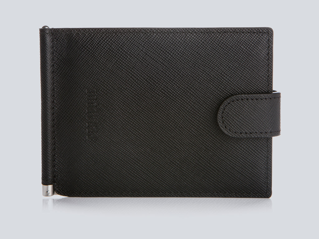 Small Men's Wallet Black Front Closed