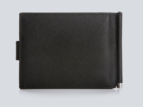Small Men's Wallet Black Rear Closed