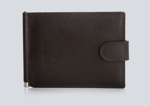 Small Men's Wallet Chocolate Front Closed