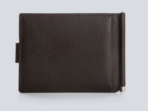 Small Men's Wallet Chocolate Rear Closed