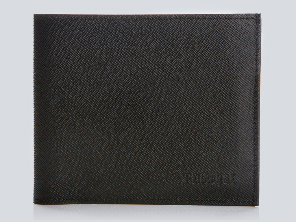 Compact Men's Wallet Black Front Closed