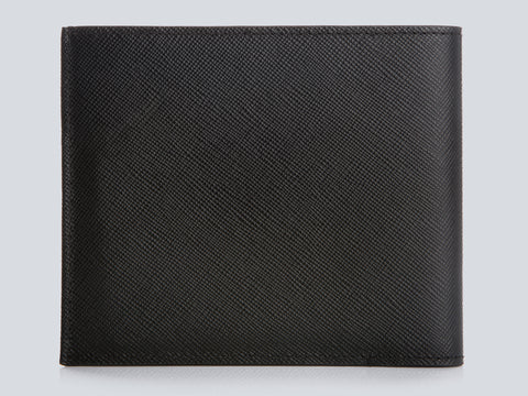 Compact Men's Wallet Black Rear Closed