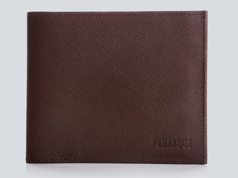 Compact Men's Wallet Burgundy Front Closed
