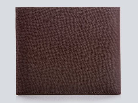 Compact Men's Wallet Burgundy Rear Closed