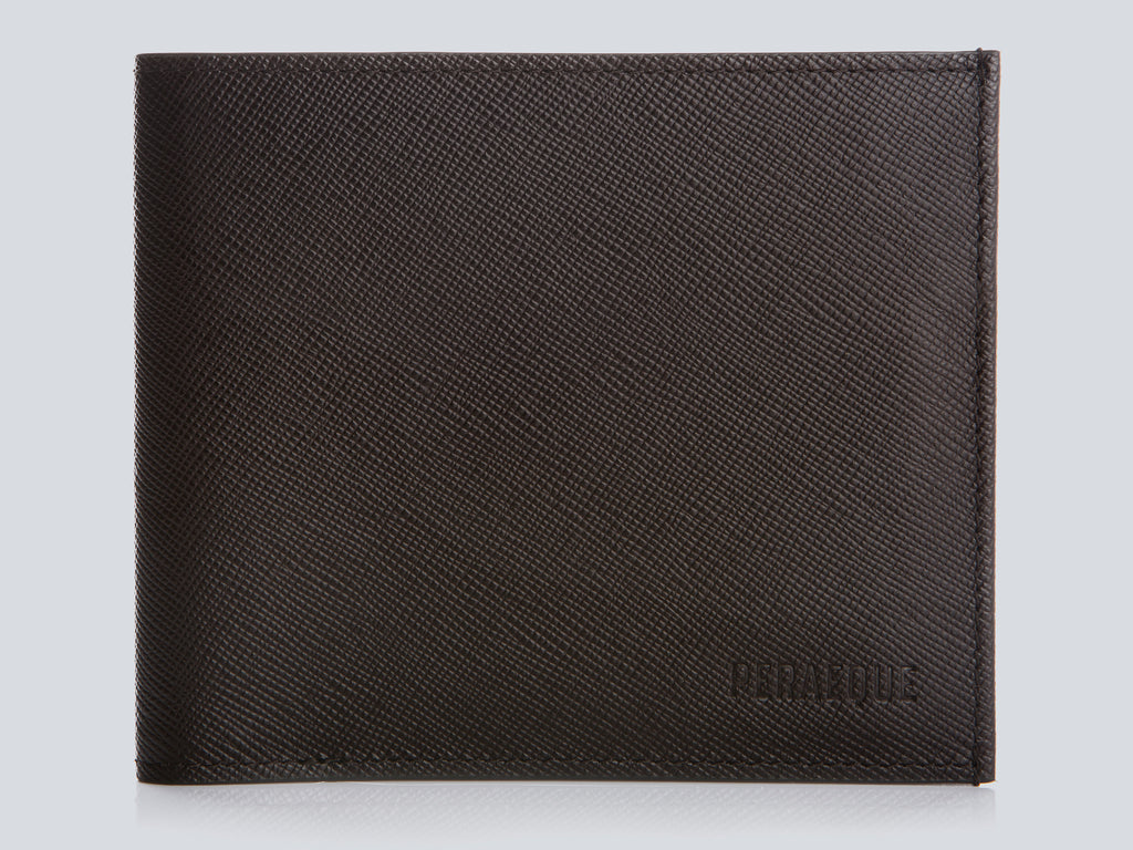 Compact Men's Wallet Chocolate Front Closed