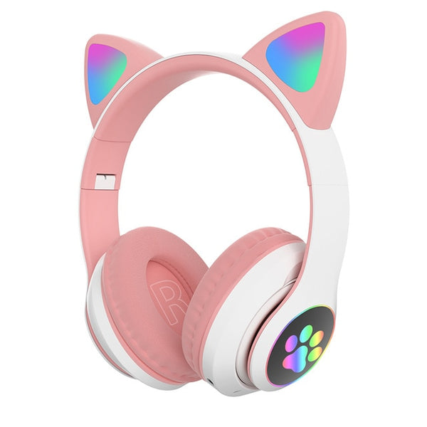 Cute LED Cat Ear Bluetooth Wireless Headphones