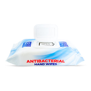 Antibacterial Hand Wipes - 90 sheets (12 packs per case)