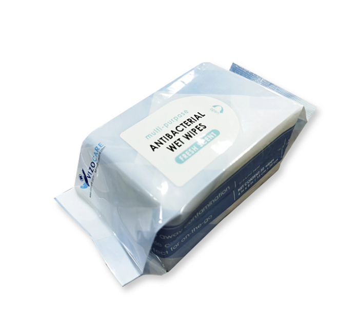 Wipes, Bactericidal, 50 sheets (50 packs per case)
