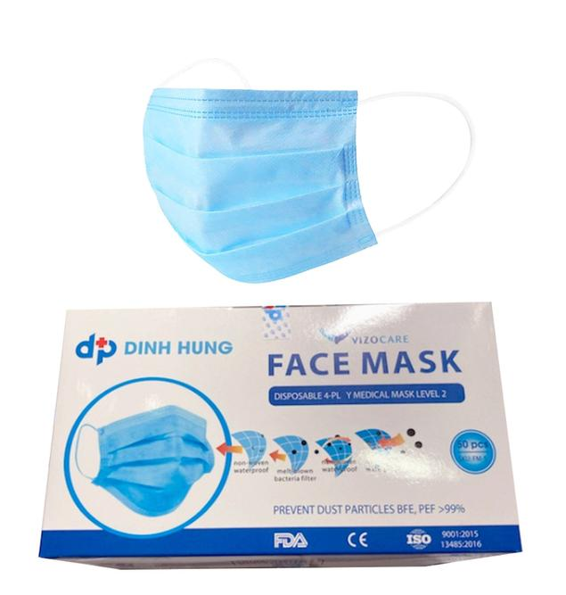 Mask Disposable, Level 2, 4-Ply >99% (Box of 50)