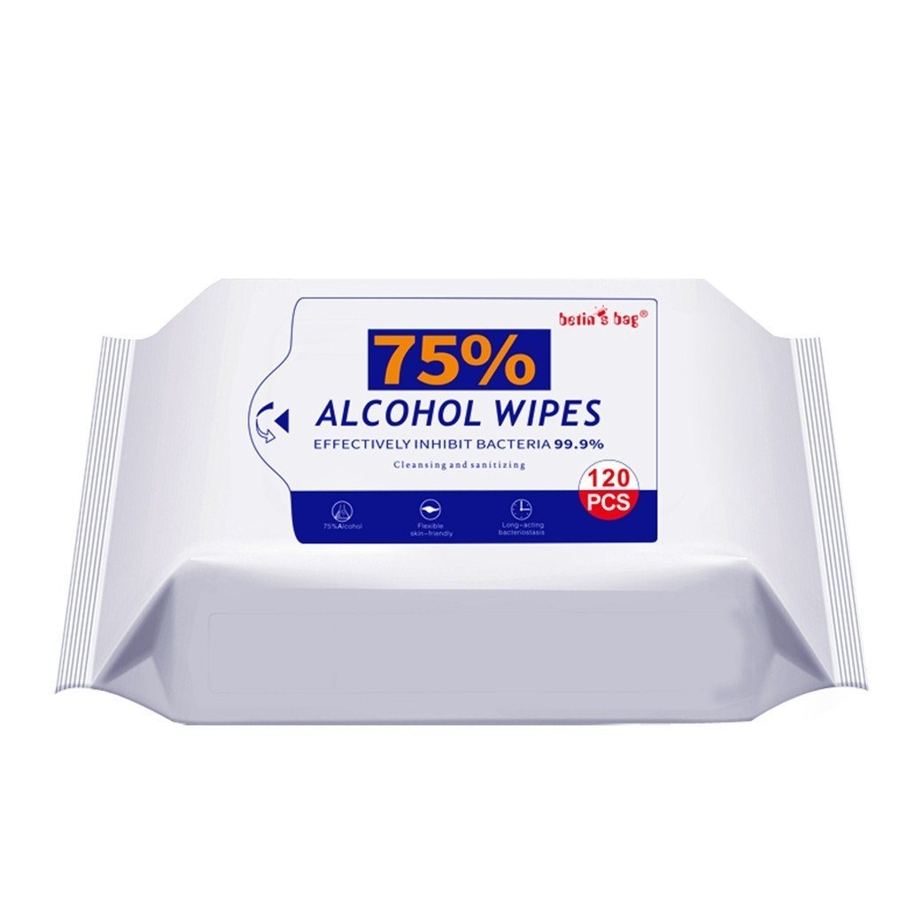 Wipes, Alcohol, 120 sheets (42 packs per case)