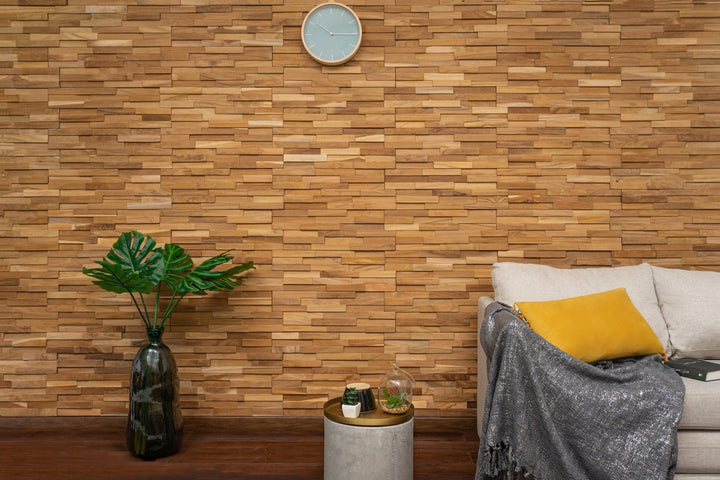 3D Wall Panels - Natural Teak-3D WOOD PANELS-Woody Walls