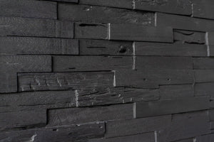 3D Wall Panels | Reclaimed Wood - Dark Graphite