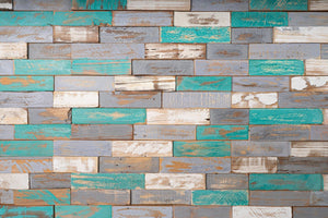 3D Wall Panels | Reclaimed Wood  - Montauk Blue