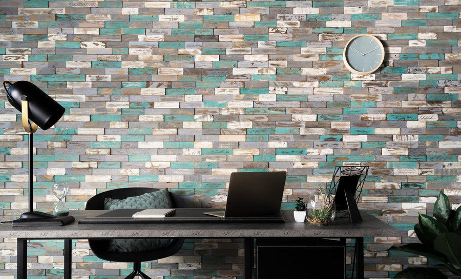 Montauk Blue-3D WOOD PANELS-Woody Walls