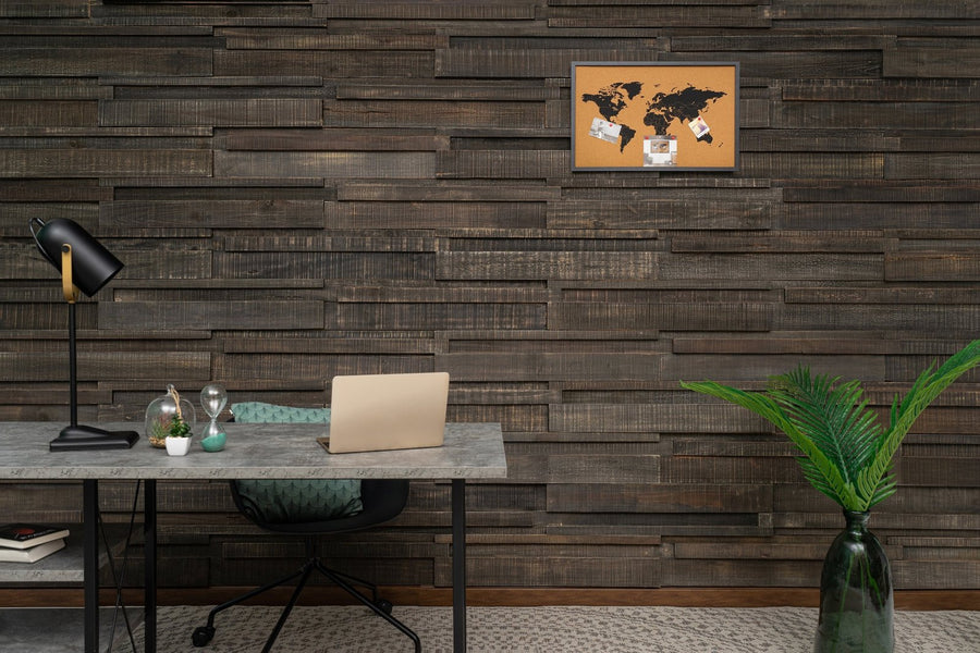 Long 3D Wall Panels - Midnight Mist-3D WOOD PANELS-Woody Walls
