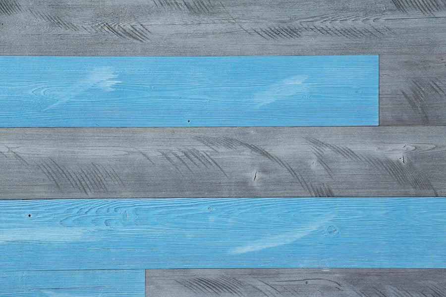 Natural Gray, Blue Sky. Real Wood (Pine) + Easy to Install