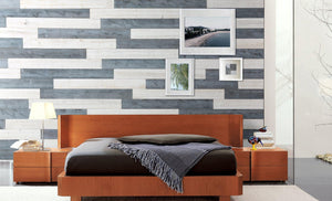 Natural Gray, White-Peel & stick-Woody Walls