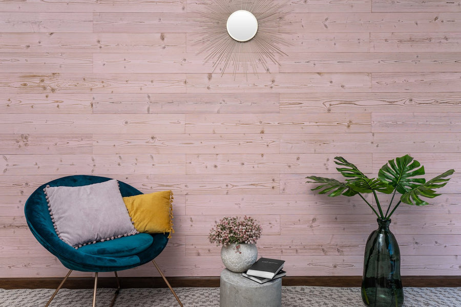 Peel and Stick Wood Planks - Pink Washed