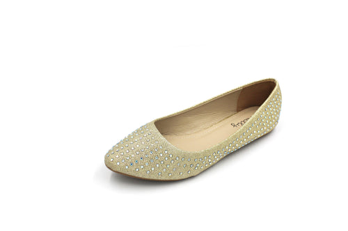 Jasmaira - Ballet Flats for Women | Diamante Shoes for Ladies | Closed Flat - Jasmaira