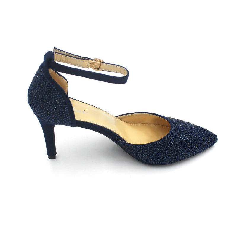 Jasmaira - Heels for Women | Kitten Heel for Ladies | Buckle Closure | Closed Toe with V Shape - Jasmaira