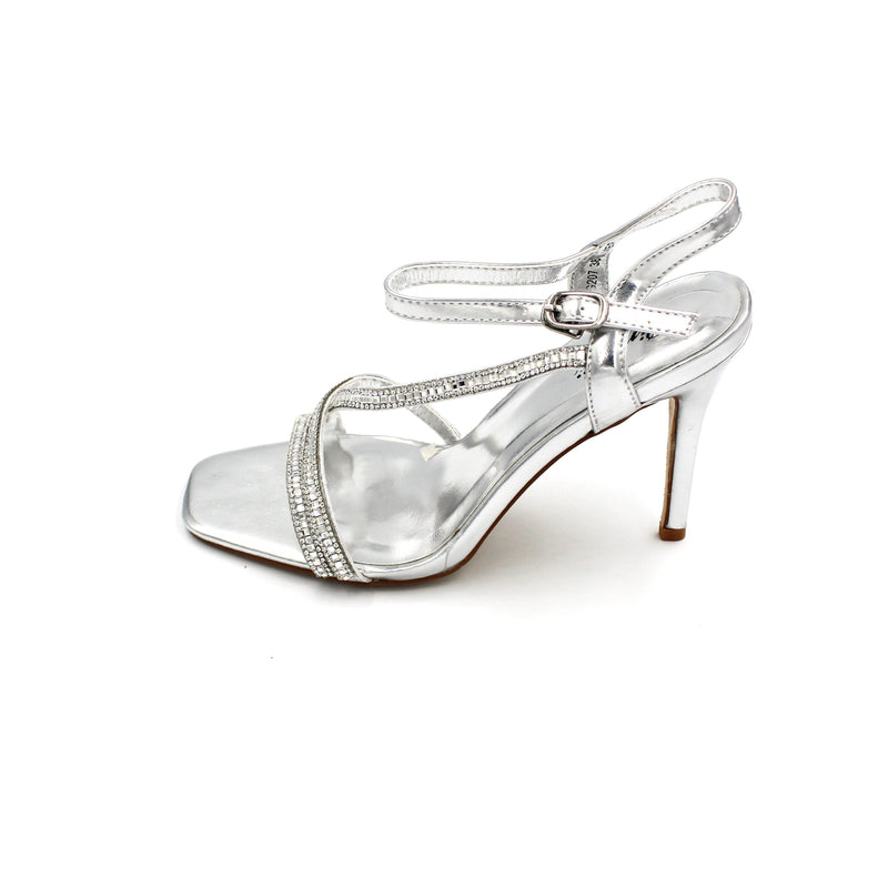 Jasmaira - Diamante Heel Sandals for Women | Strap Heels for Ladies | Buckle Closure | Open Toe - Jasmaira