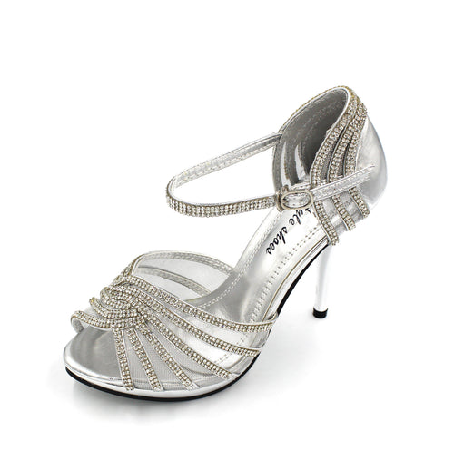 Jasmaira - Diamante Sandals for Women | Strap Heel for Bridals | High Heels | Buckle Closure | Peep Toe - Jasmaira