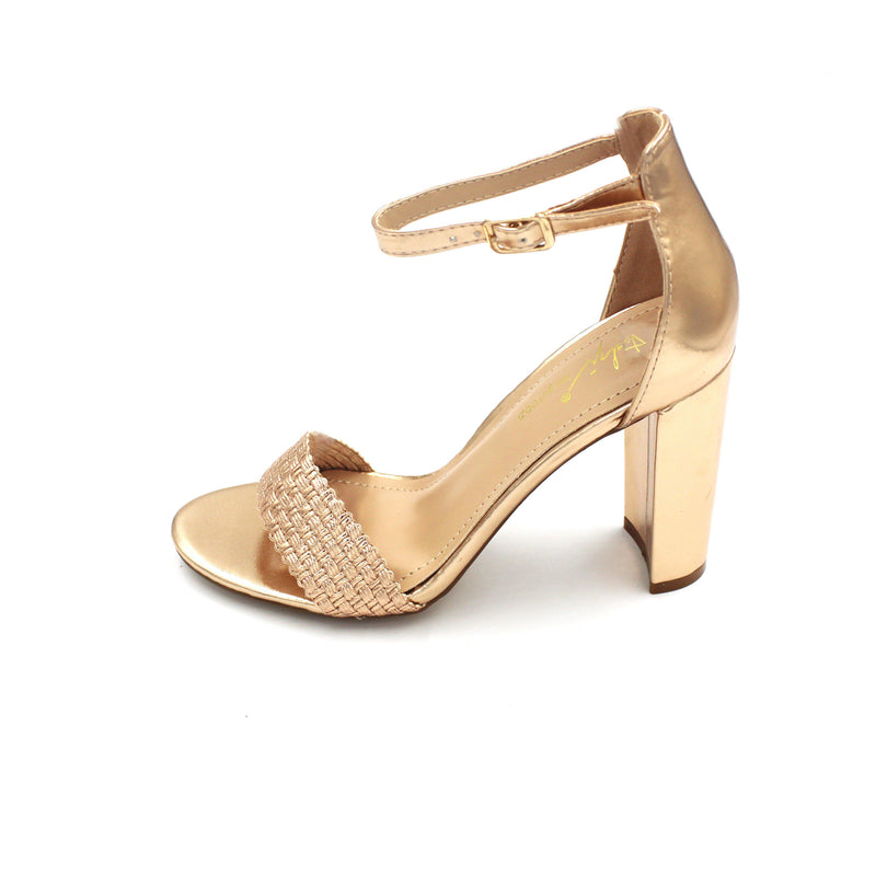 Jasmaira - Ankle Strap Sandals for Women | Mid Block Heels | Strappy Shoes for Ladies | Open Toe - Jasmaira
