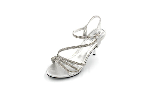 Jasmaira - Diamante Sandals for Women | Strap Heel for Ladies | Heels | Buckle Closure | Open Toe - Jasmaira