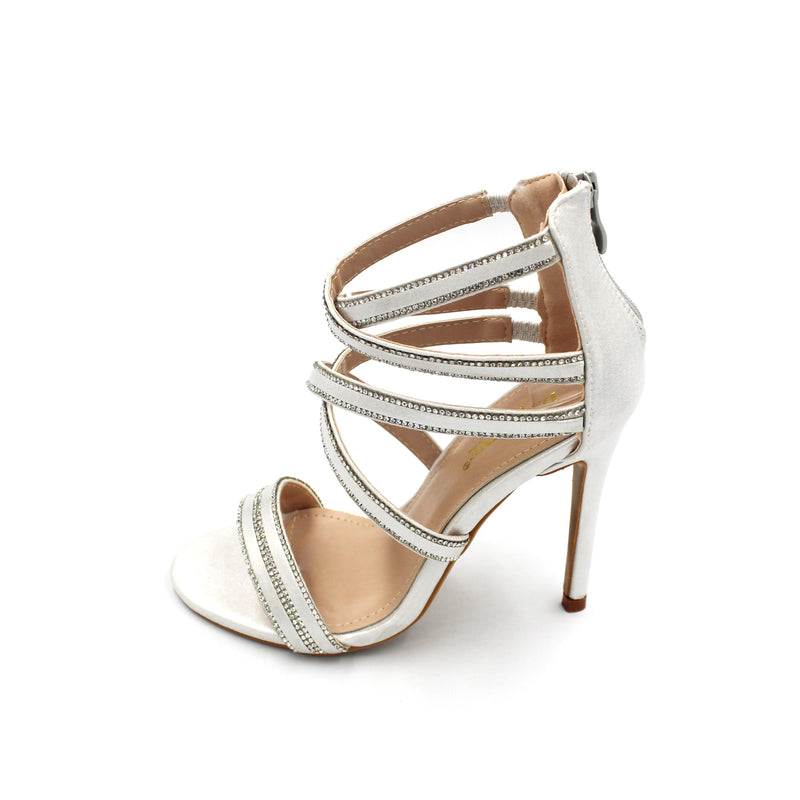 Jasmaira Peep-Toe Sandals - 4.5in. Stilettos for Wedding Receptions and Formal Office Dinners - Jasmaira
