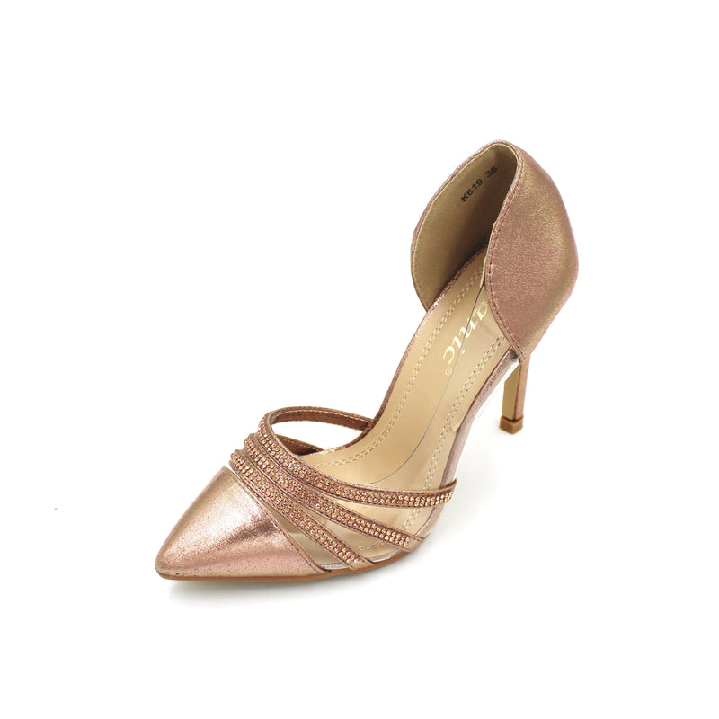 Jasmaira Pointed Toe Heels with Embellished Straps, 4 in. Heel, Slip-On Pumps, Closed Toe for Women - Jasmaira