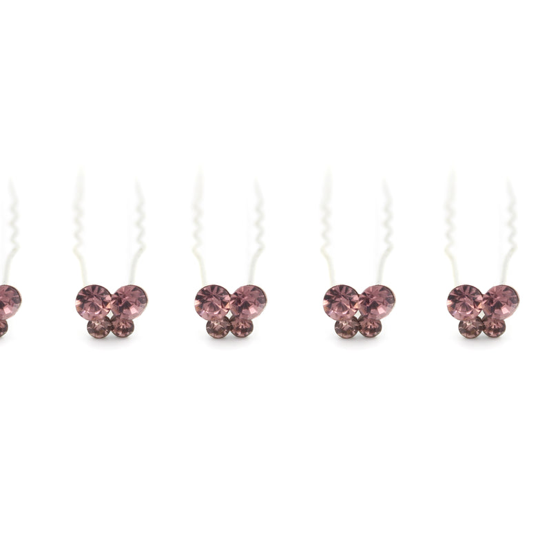 Butterfly shaped Hair Pins For Prom Party Weddings Bridal - Multiple Quantities/Colours