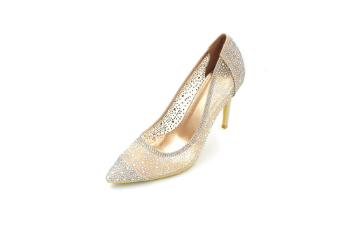Jasmaira AB Stone Embellished 4.5-inch heels available in three colors