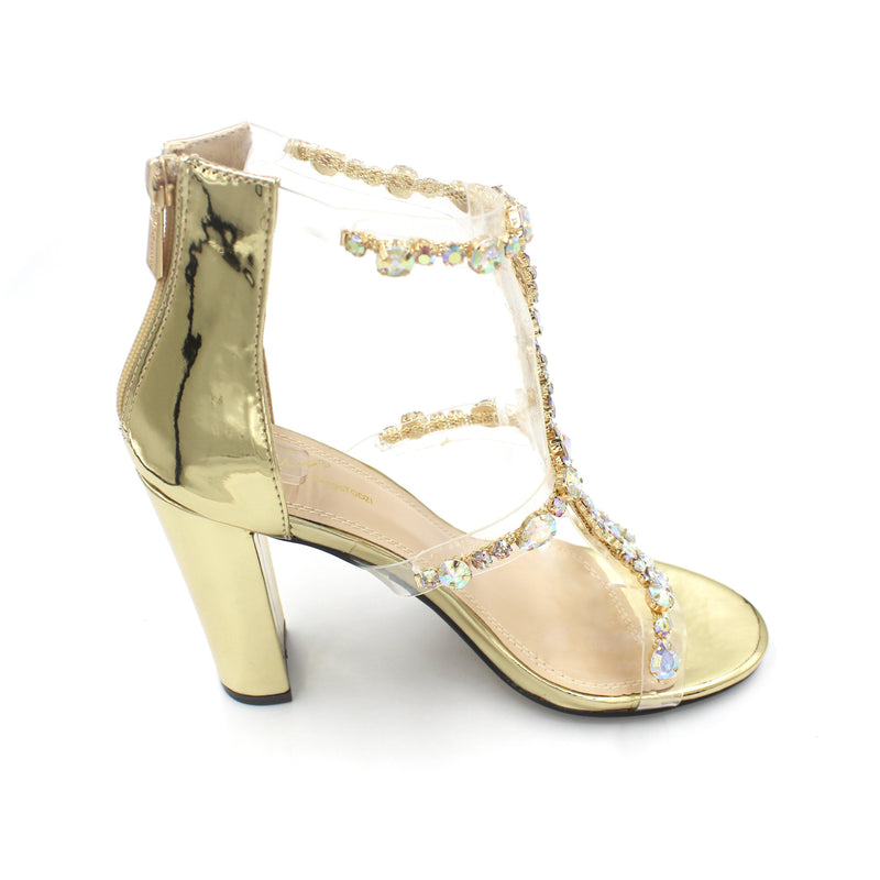 Jasmaira Beautiful 4-inch heels embellished available in gold and silver