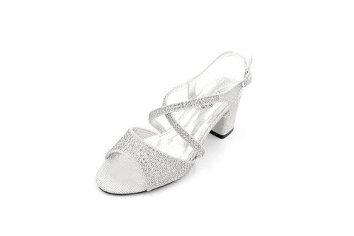 Jasmaira - 6.5CM. Ankle Heels with Embedded Stones | Mid Heel for Women |Heels for Weddings, Cocktails & Reception Parties