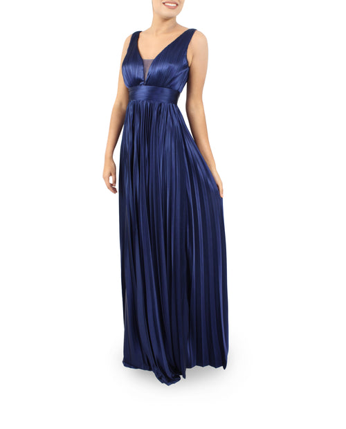 Long Simple & Elegant Silk/Satin Evening Party Prom Bridesmaids Dress