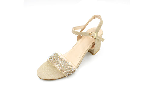 Open Toe Sandal With Block Heel - 3 Colours - 6CM - 2 Inches