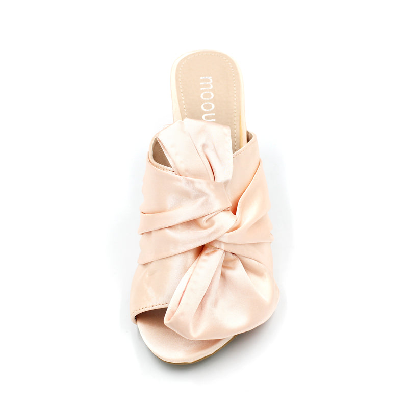 Satin Bow Style Silky Slipper - 4 Colours - 8CM/3 Inches