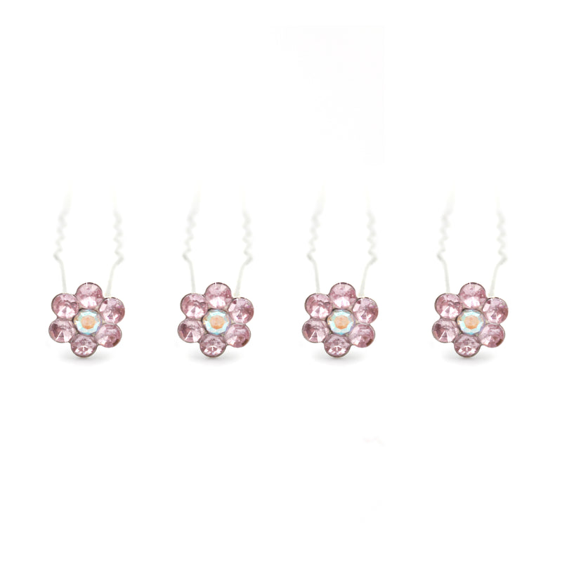 Flower floral shaped Hair Pins For Prom Party Weddings Bridal - Multiple Quantities/Colours/Sizes