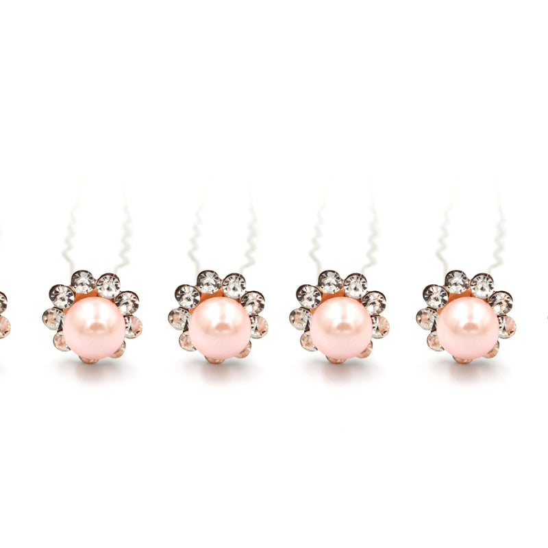 Pearl shaped Hair Pins For Prom Party Weddings Bridal - Multiple Quantities/Colours