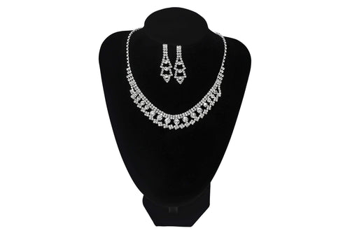 Necklace And Earring Set For Wedding Party Prom - Jasmaira