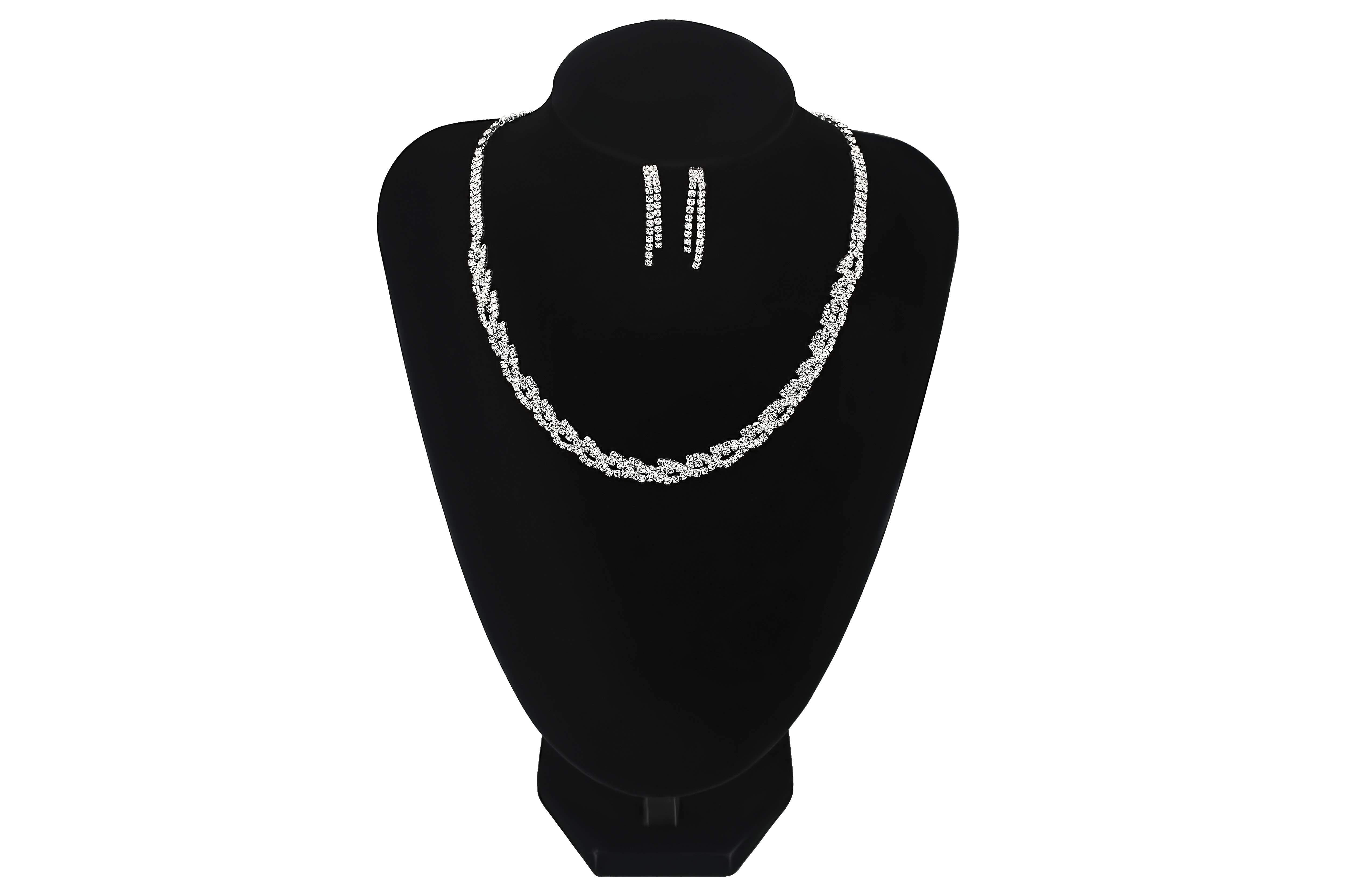 Round Twisted Rope Style Necklace Set - Jasmaira
