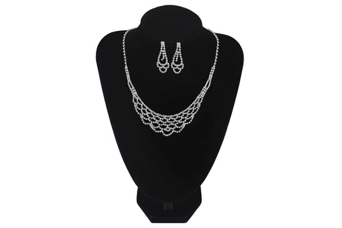 Full Oval Shape Necklace Set With Earrings - Jasmaira