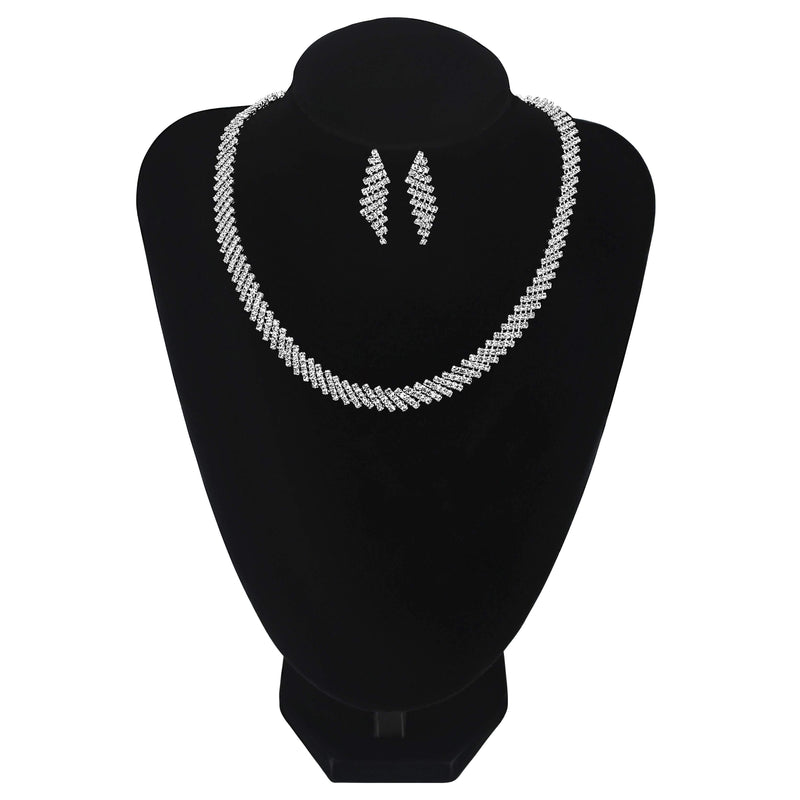 Simple Style Necklace With Earrings For Wedding Prom Party - Jasmaira