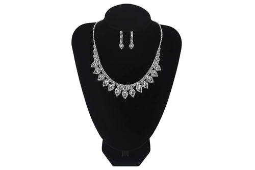 Round Necklace With Earrings For Wedding Party Evening Prom Jewellery - Jasmaira