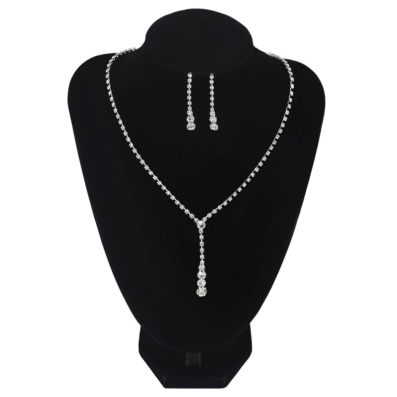 Drop Pendant Style Necklace Prom Wedding Bridesmaids Jewellery - Jasmaira