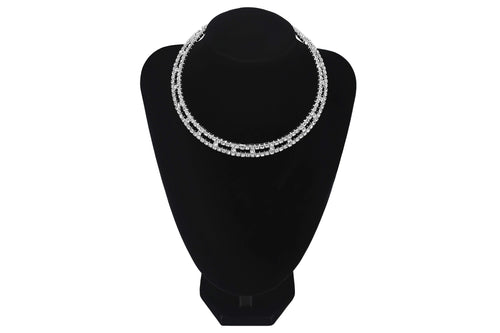 Recutangular Style Cutout Choker Wedding Party Bridesmaids Prom Jewellery - Jasmaira