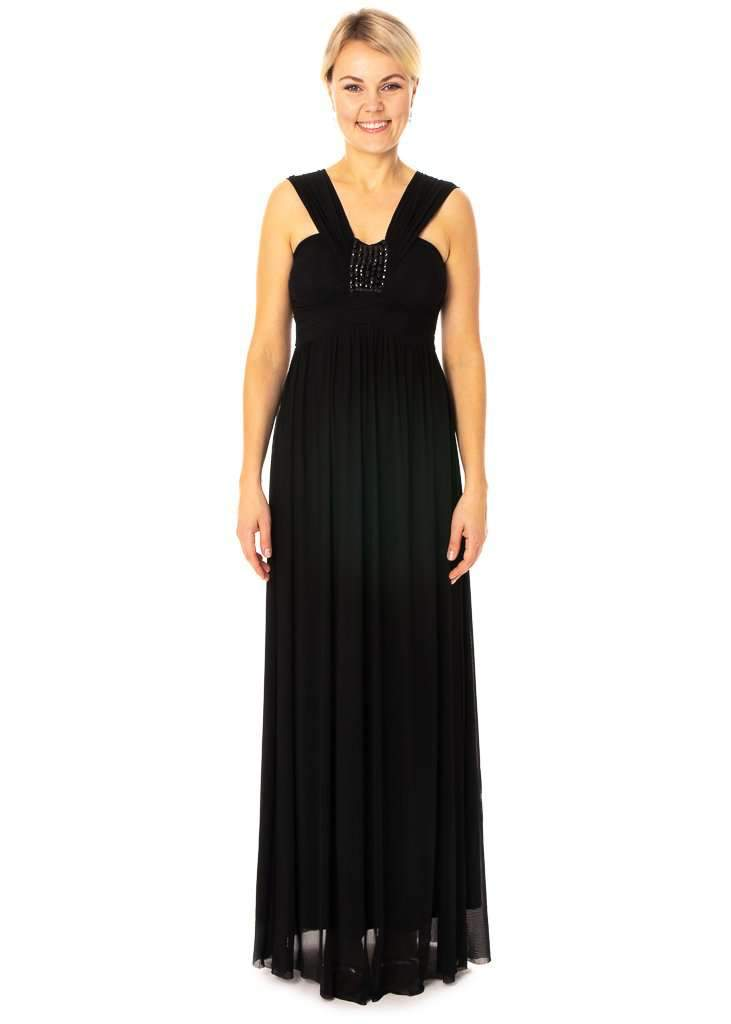 Sleeved Long Dress With Embellishments Bridesmaids & Prom Dress - Jasmaira