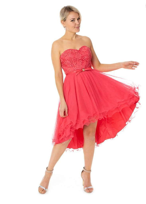 Short High Low Sweetheart Neck Dress Prom Bridesmaids Evening - Jasmaira