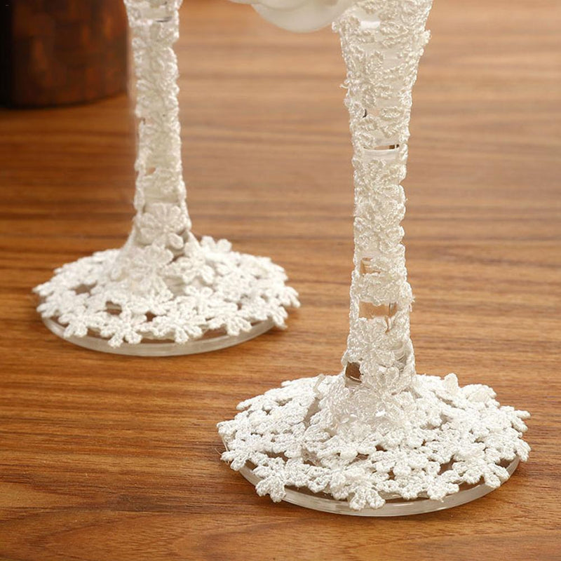 2PCS/ Pair Wedding Champagne Glasses - Jasmaira