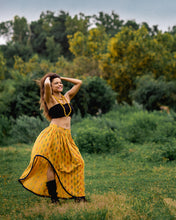 Load image into Gallery viewer, The Yellow Pure Cotton Boho Skirt by threada